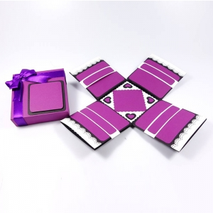 Exploding love box purple