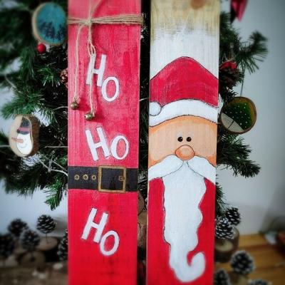 Tranh gỗ ông già Noel